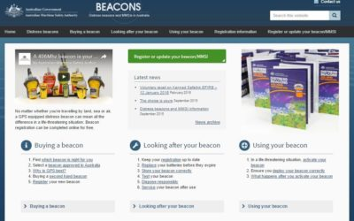 Emergency Beacons Website